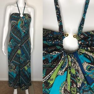 Heart Soul Blue Paisley Maxi Dress XL